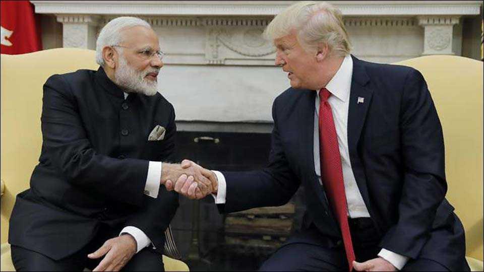 Indian PM Narendra Modi and US President Donald Trump