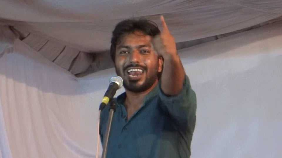 JNU students wing leader Mohit Pandey criticize government