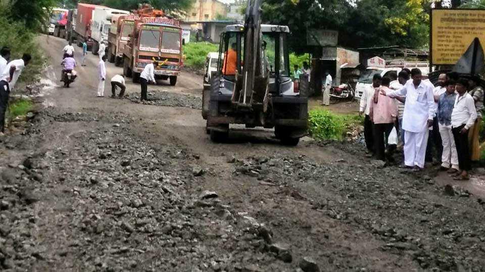Nagar-Solapur road