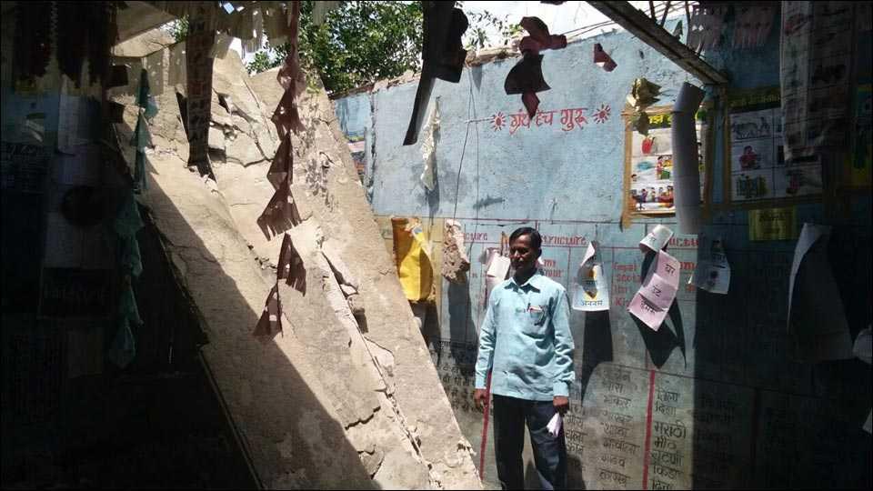 उस्मानाबादः शाळेच्या इमारतीची एक खोली कोसळली; जीवितहानी नाही