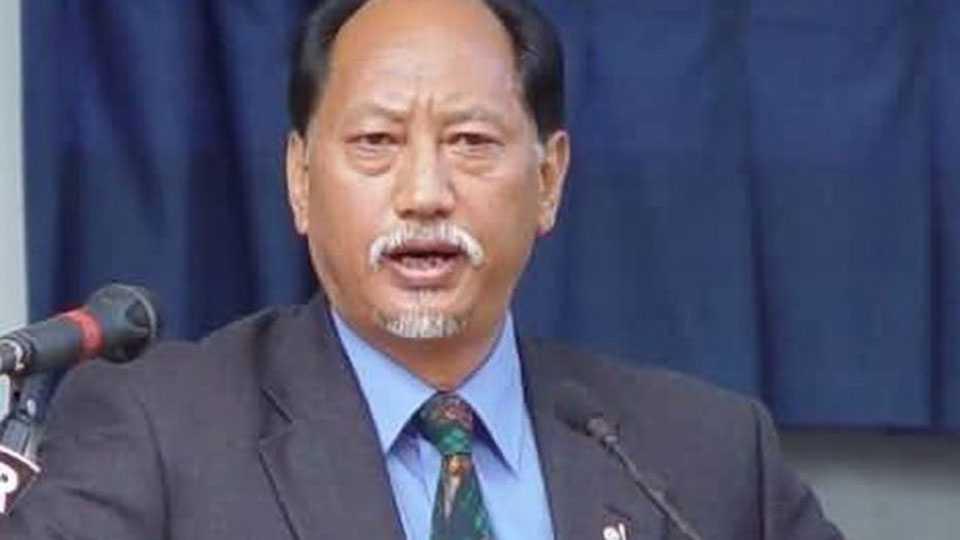 National News Political News Nagaland CM neiphiu rio