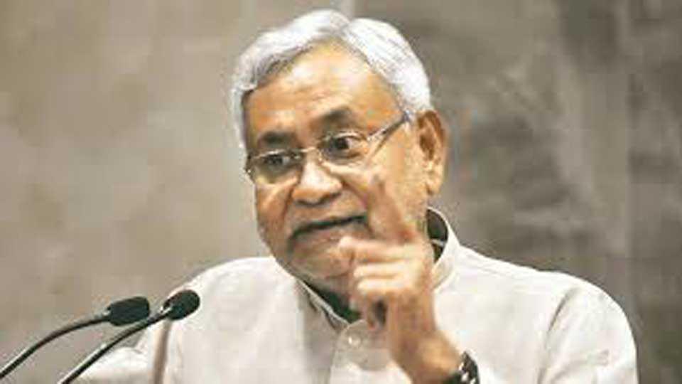 Nitish Kumars Sushashan babu image torn