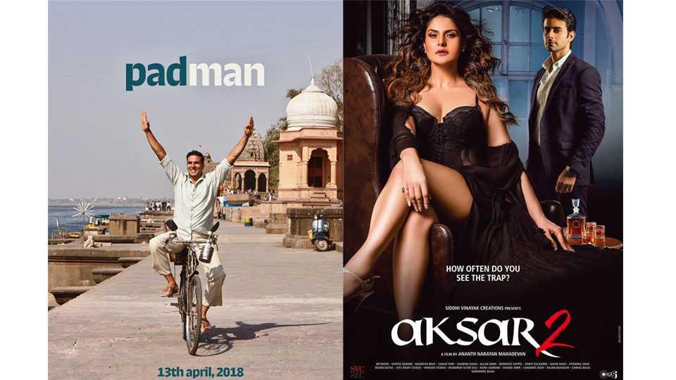 new posters Aksar2 and Padman esakal news