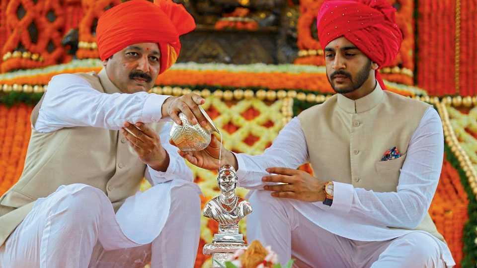 Raja Shiv Chhatrapati  rajyabhishek raigadh