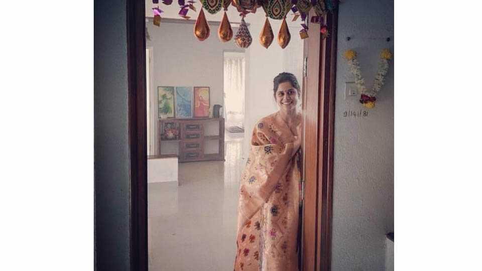 marathi actress saie tamhankars new home
