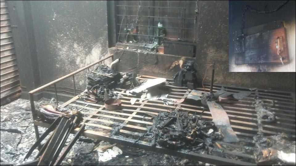 सावंतवाडीः निरवडे भंडारवाडी घराला आग लागून वीस लाखाचे नुकसान