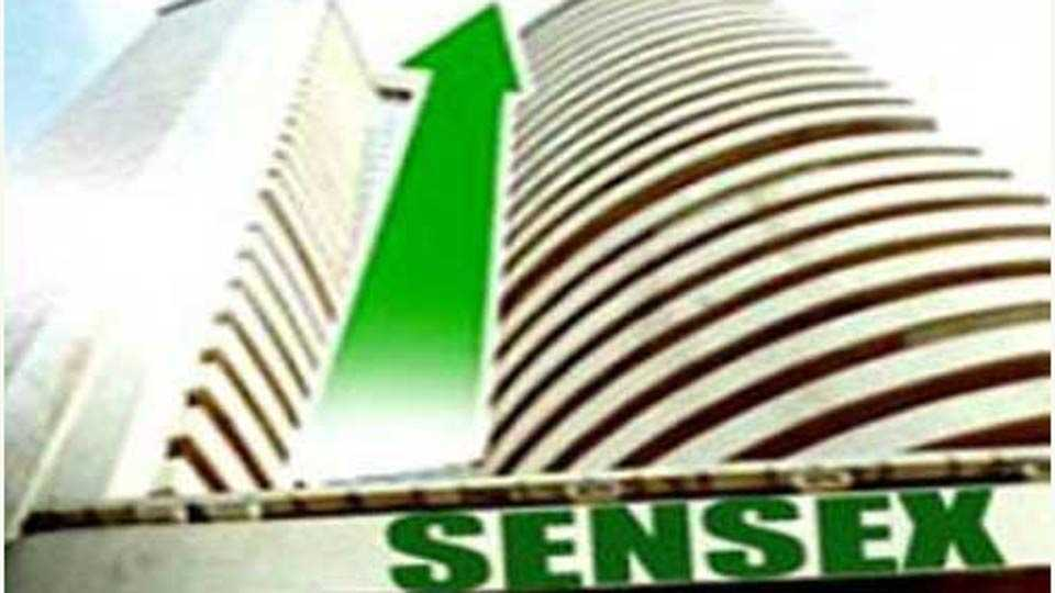 sensex 100 points up now