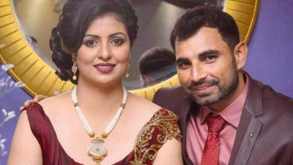Mohammed Shami in the line of fire over wife's dress in couple's photo