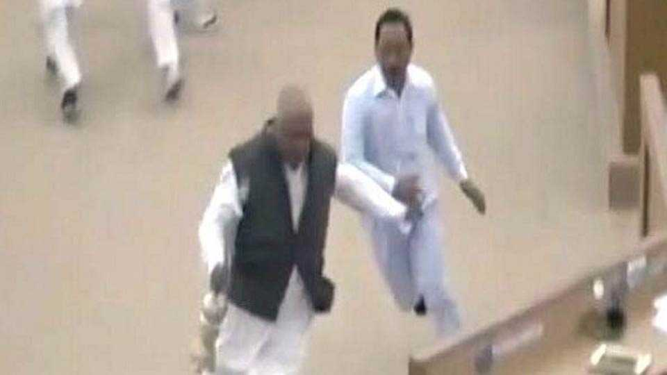 Tripura: TMC MLA runs away with Speaker's mace, stalls house