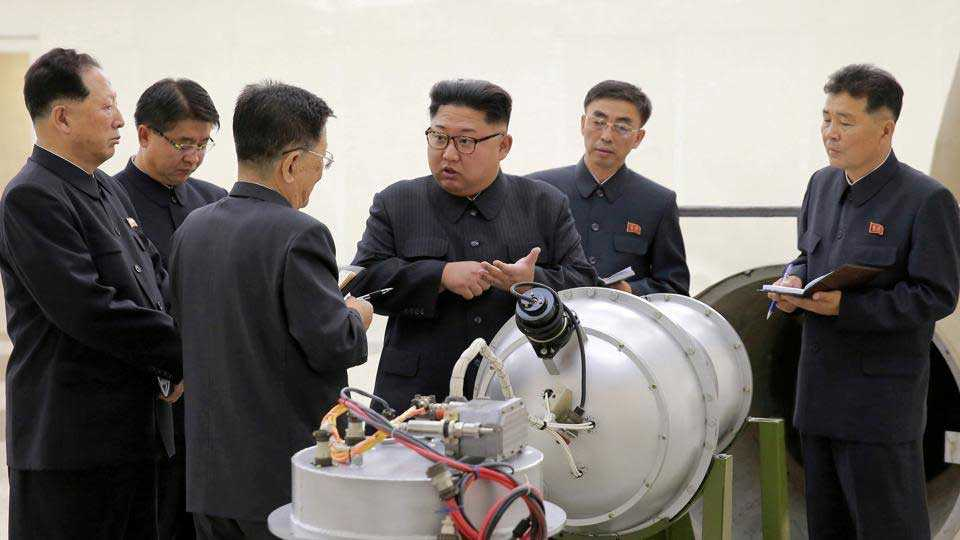 The beginning of North Korea in destroying nuclear weapons