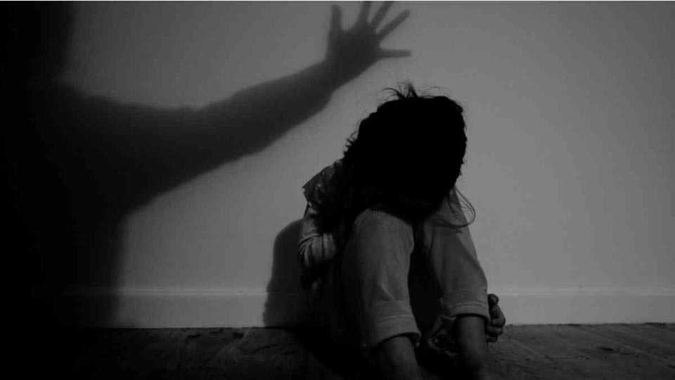 In Khadvala nine year old girl was raped by her father