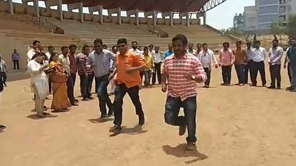 Shivsena took action against players inconvenience at Aurangabad