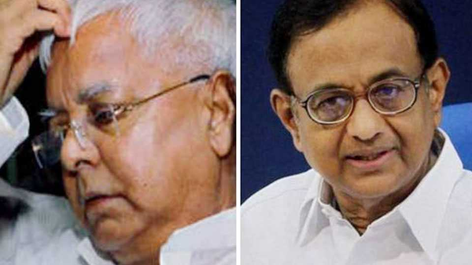 CBI action against Chidambaram, Lalu