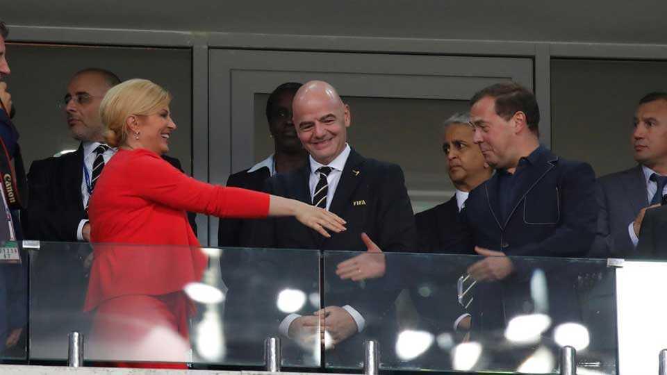Croatia PM celebrates team's win in football worldcup