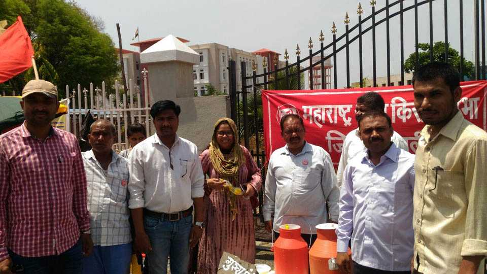 By Distributing Milk Protested Against Government