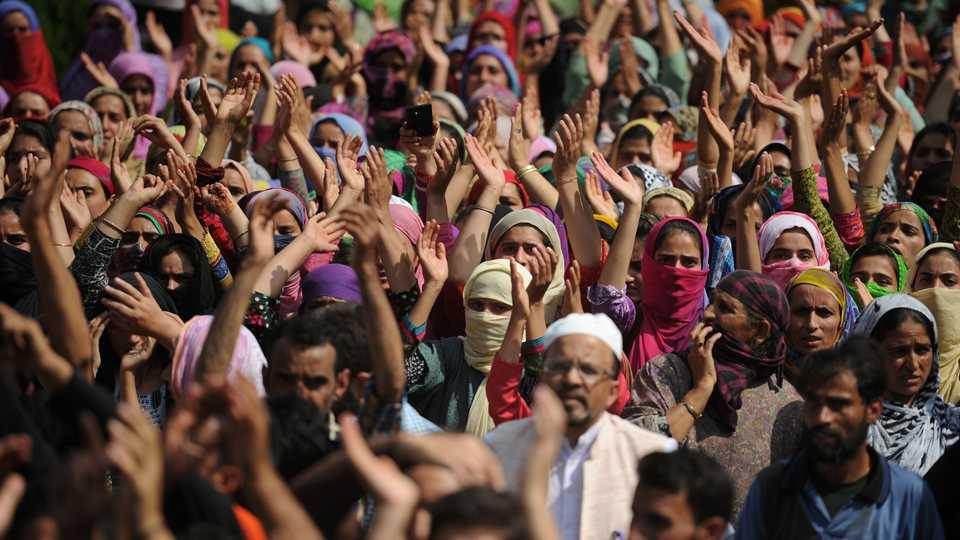 Representational image of Kashmir Protests