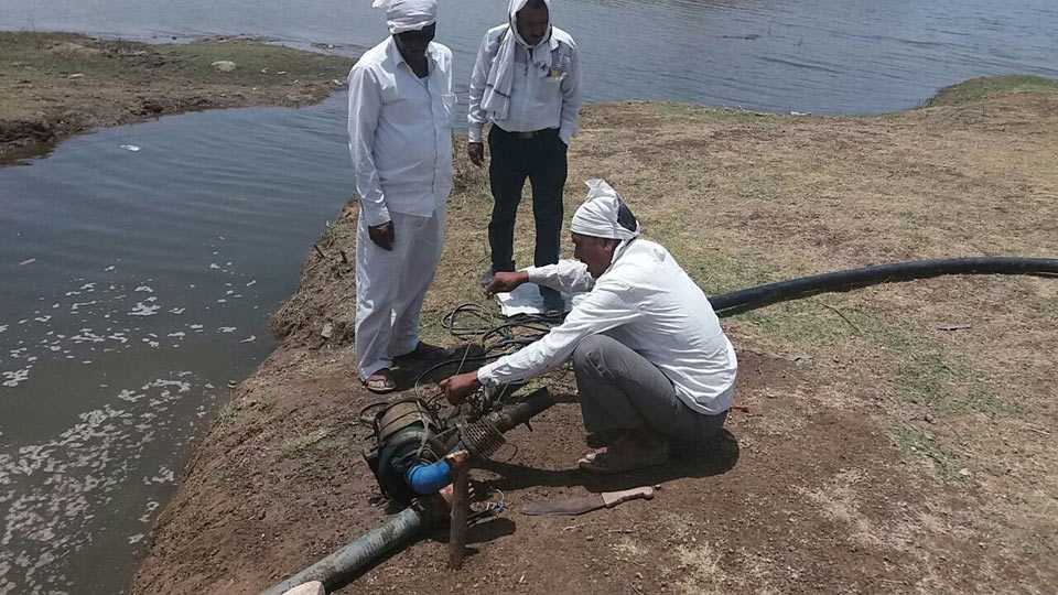Krushnapuri Water Theft Pump have been seized