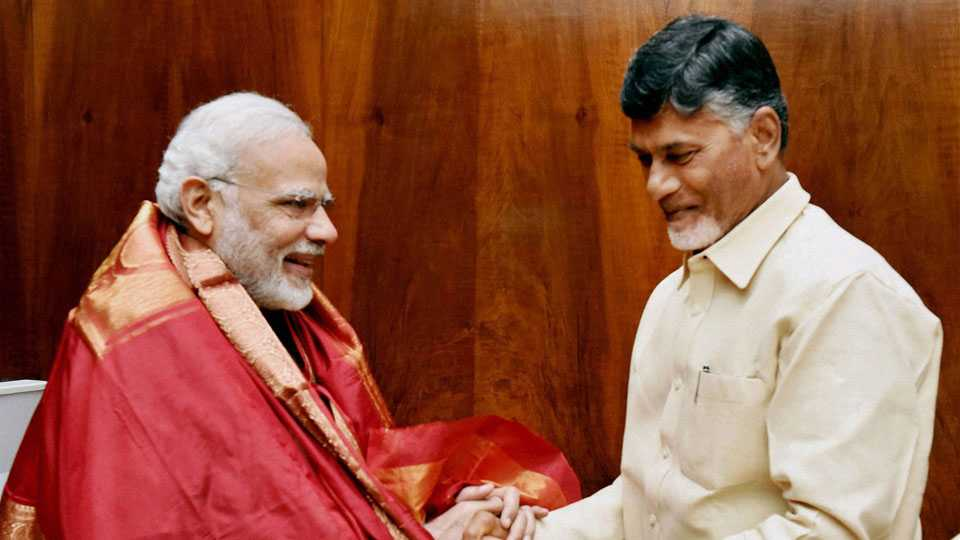 File photo of Narendra Modi and Chandrababu Naidu
