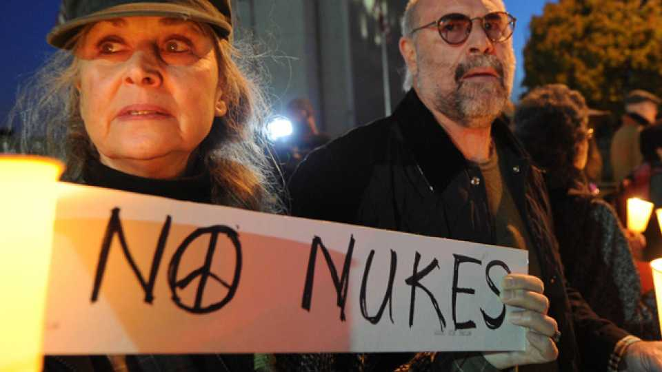 File photo of Protest against Nuclear Weapons