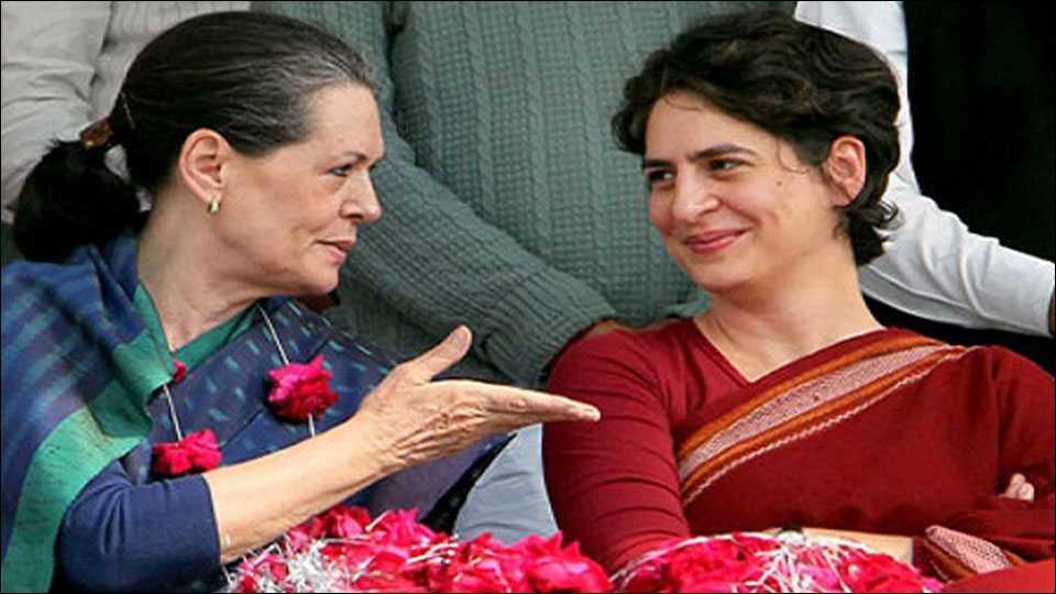 Priyanka and Sonia Gandhi