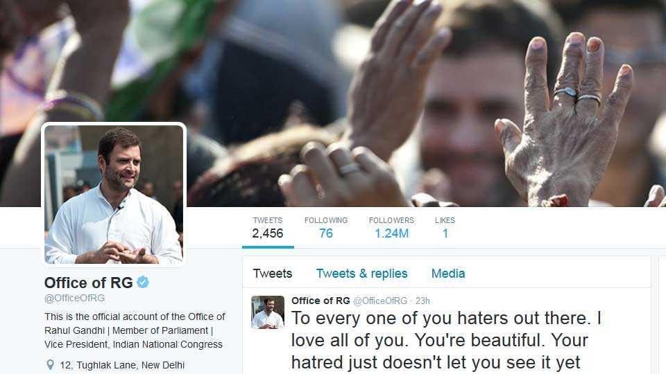 Rahl Gandhi Twitter