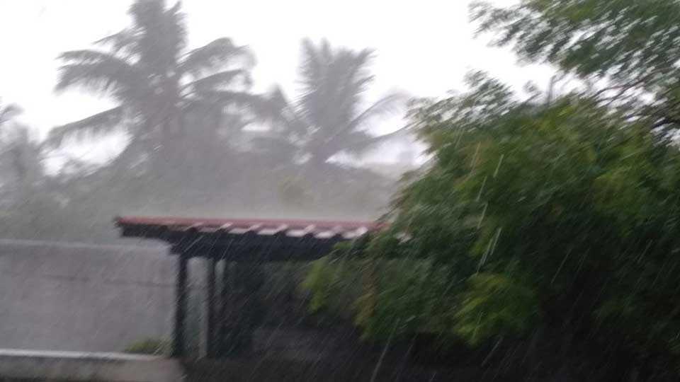 Pretty heavy rain showers