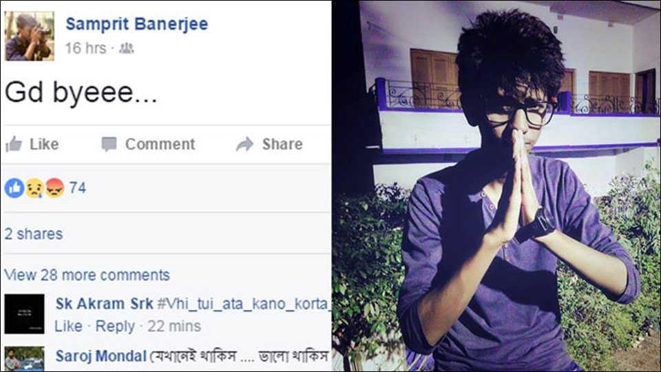 Boy posts 'bye' on Facebook, found hanging