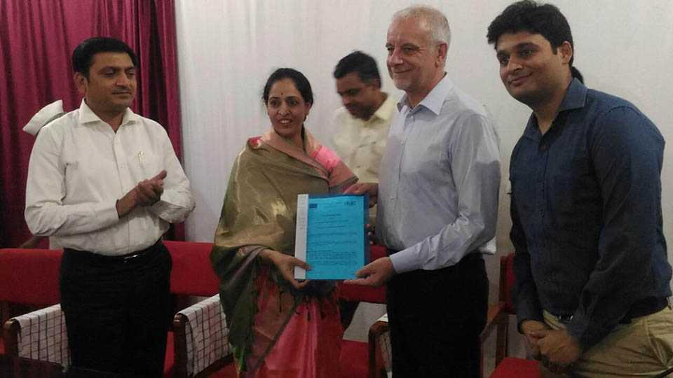 contract between Solapur-Marcia for sustainable urban development