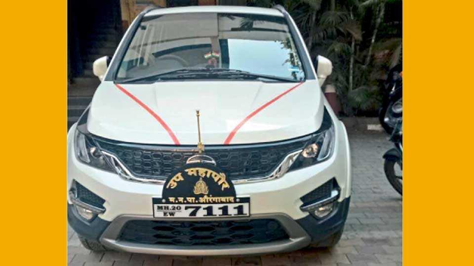 उपमहापौरांसाठी खरेदी करण्यात आलेली नवी गाडी.