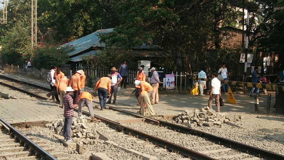 saphale railway station work