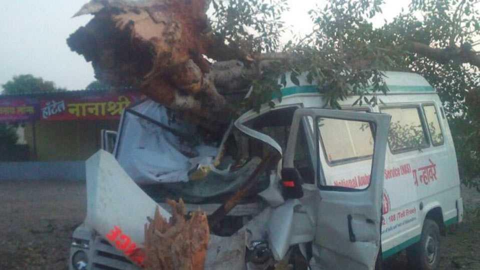 ambulance accident near shirur