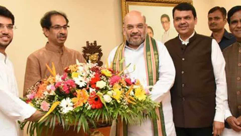Amit Shah meets Uddhav Thackeray