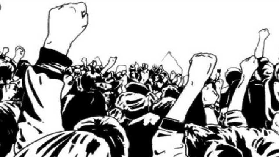 Hawker's organization protest in corporation