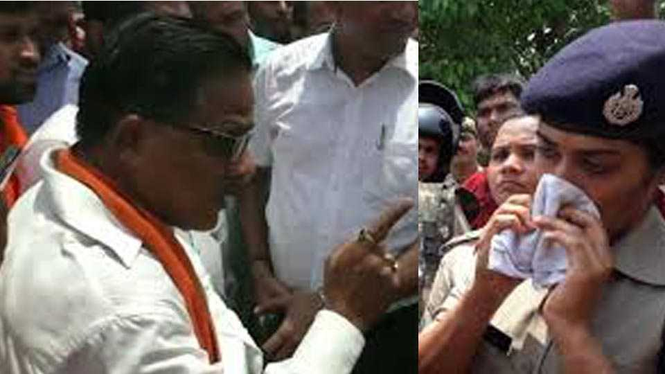 Woman IPS officer in tears after UP BJP MLA pulls her up publicly