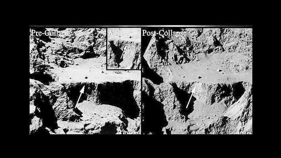 Comet Landslide Caught in Action