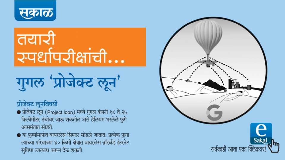 Sakal News esakal news competitive exam news series upsc mpsc Google Project Loon