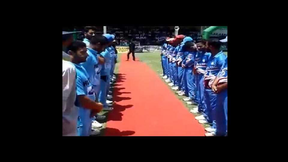 Anthem of Pakistan-administered Kashmir played ahead of cricket match in Pulwama