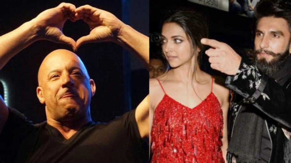 Deepika Padukone looks on as Vin Diesel refers to Ranveer Singh as her 'boyfriend'