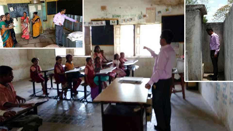 dhule news maharashtra news new ceo direct visit school visit zp school
