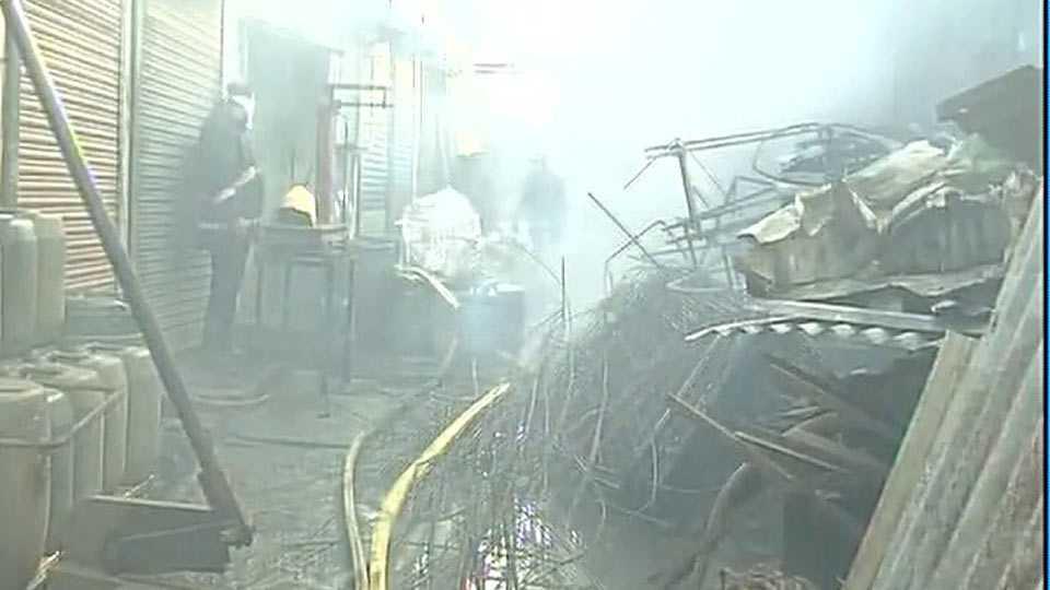 Mumbai Fire breaks out in Kurla's Kapadia Bazar