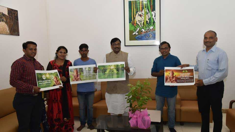 Now for 'Ganesh Bhakt', 'Go green Bappa'