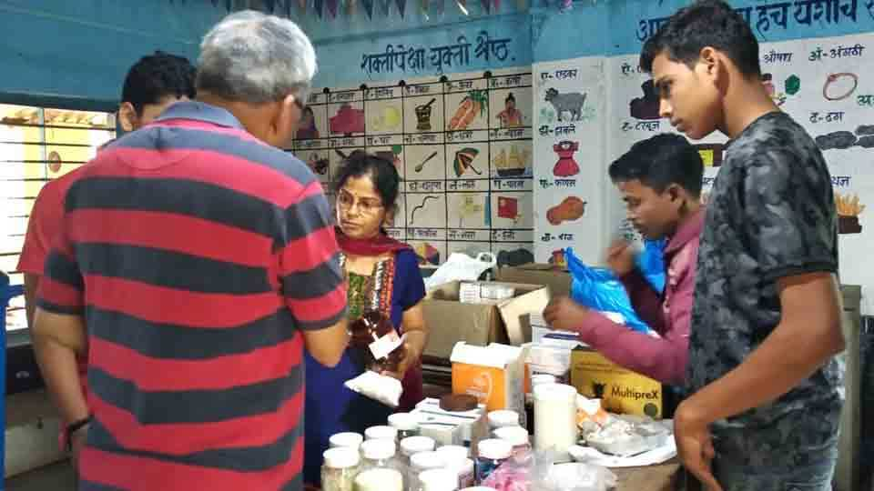 Free medicines for 64 patients in Health Camp at Tadgaon