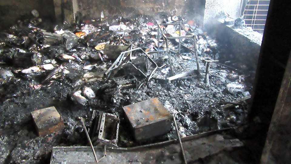 marathi news kagal Municipal Council fire news