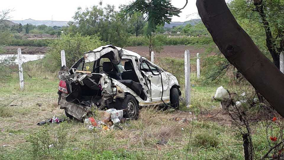 Four cars were killed in Aurangabad