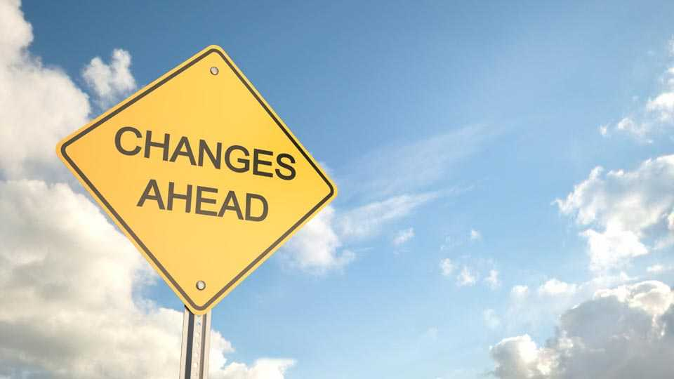 change in policy
