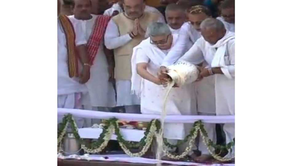 Former PM Atal Bihari Vajpayees ashes immersed in Haridwar