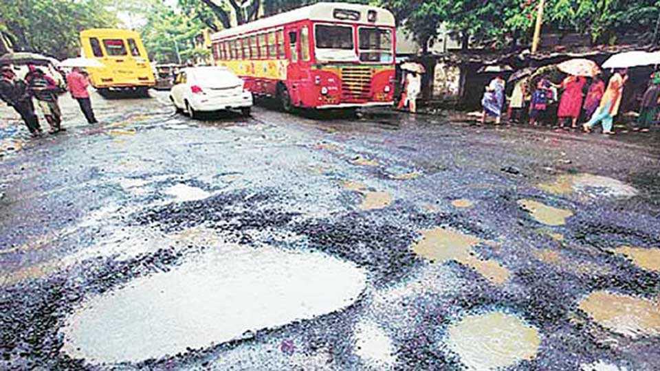 pothole in Mumbai Municipal Corporation