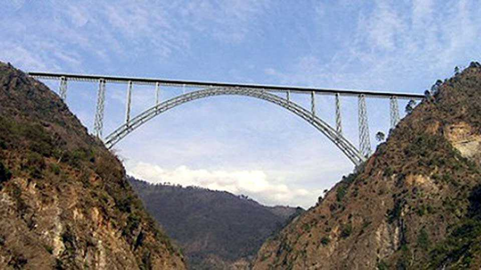 Biggest railway bridge in Jammu