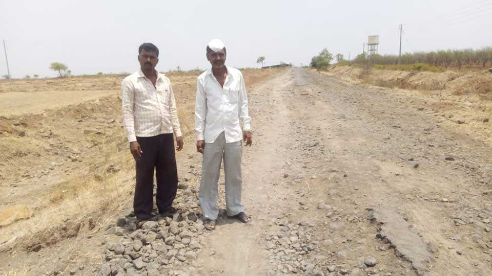 bad condition for Road to connecting districts and talukas
