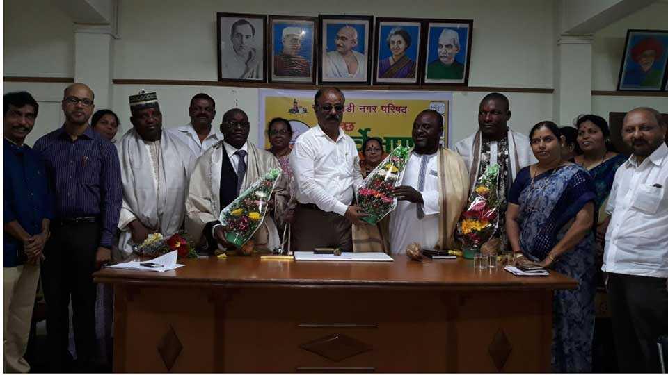 marathi news kokan savantwadi nigerian cashew officers study tour